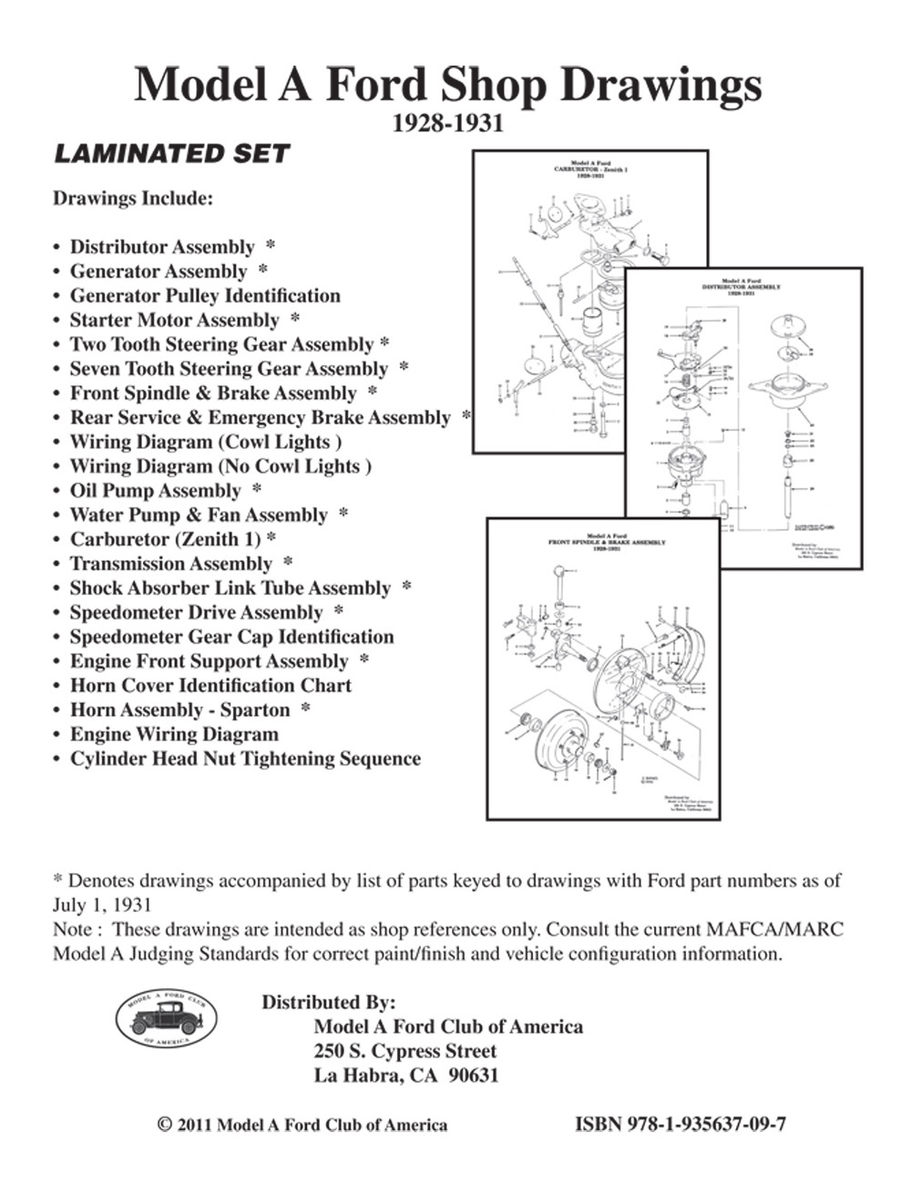 """Model A """"Shop Drawings"""" (22 page set) ..."""