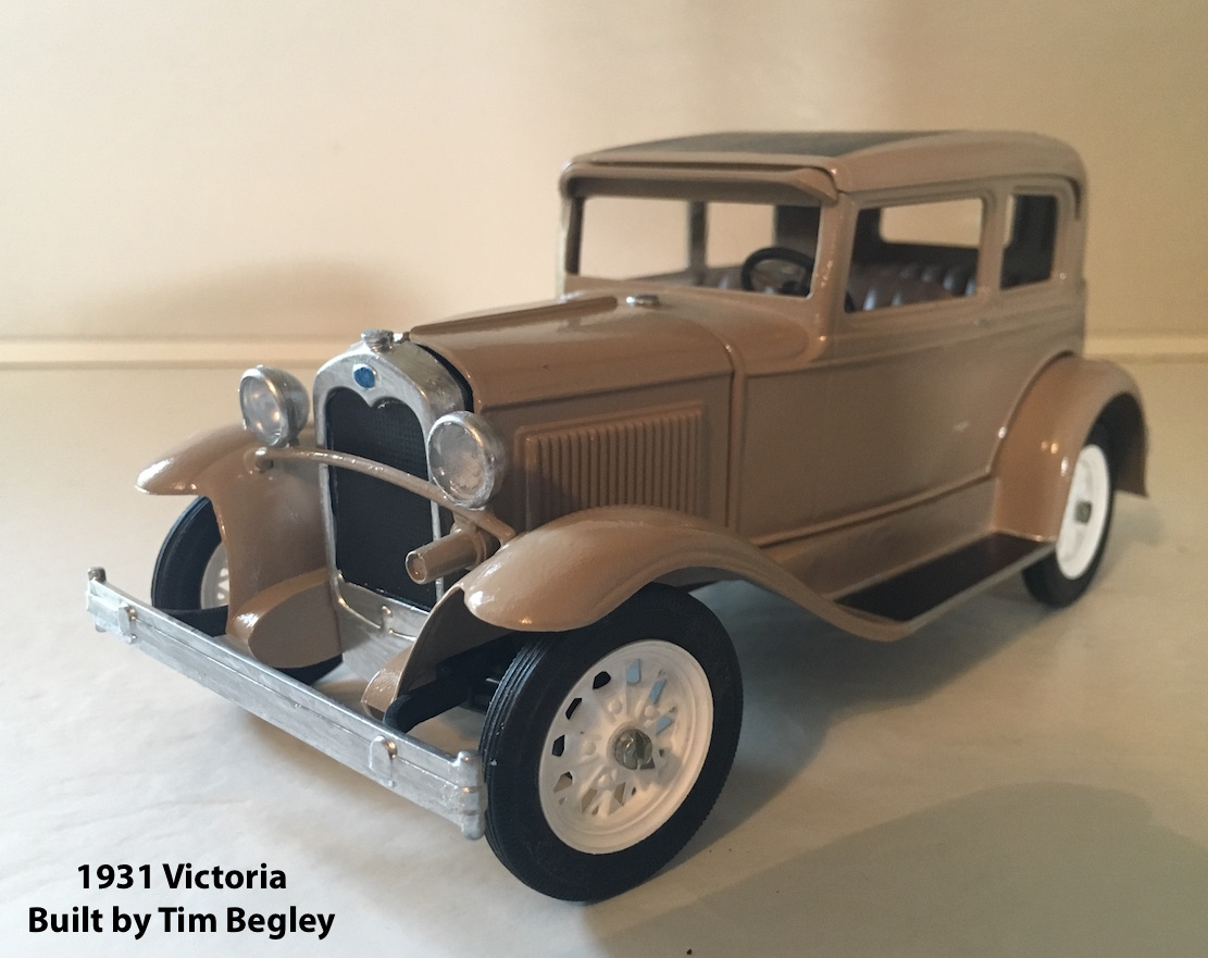 TIm Begley built a Hubley Victoria to resemble his father's 1930 Tudor  Sedan.