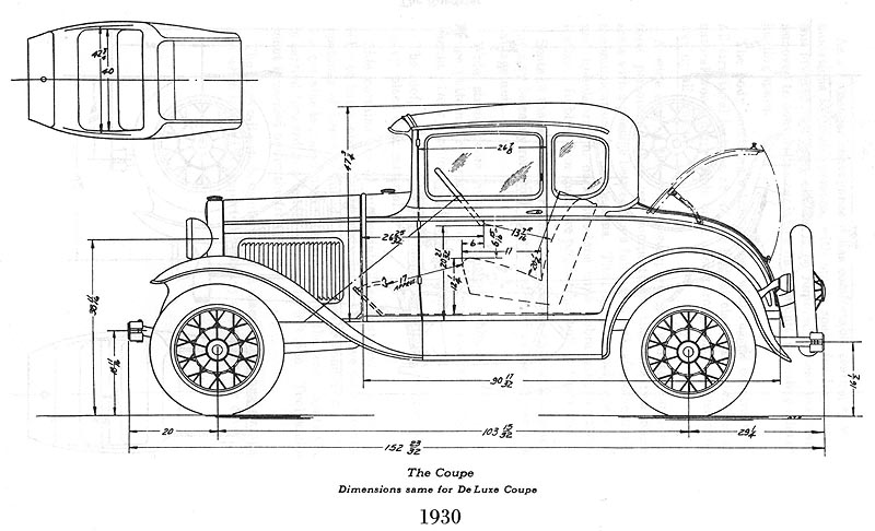 1930 model a ford steering diagram
